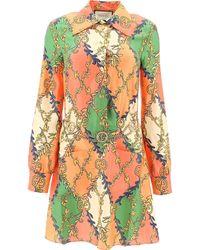 Gucci All Over Logo Print Shirt Dress - Multicolor