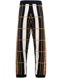 Gucci GG Lurex Embroidered Trousers - Black