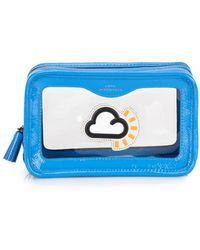 Anya Hindmarch Cloud Toiletry Bag - Blue
