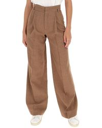 Chloé High-waisted Wide-leg Pants - Brown