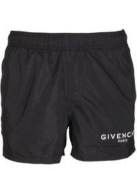 Givenchy Logo Swim Shorts - Black