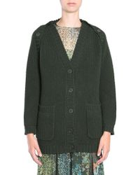 Alberta Ferretti Fishermans Rib Cardigan - Green