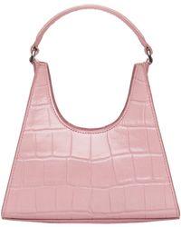 STAUD Mini Rey Embossed Tote Bag - Pink