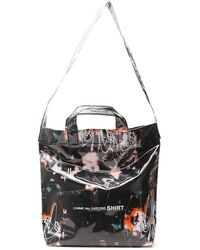 Comme des Garçons X Futura Graffiti Print Tote Bag - Black
