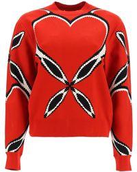 Alexander McQueen Heart Motif Sweatshirt - Red