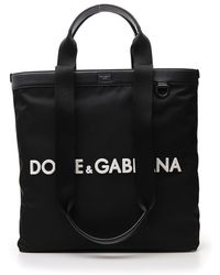 Dolce & Gabbana Logo Tote Bag - Only One Size / Black