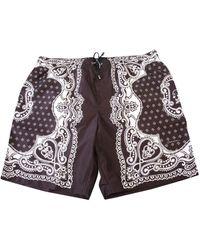 Dolce & Gabbana Bandana Swim Shorts - Blue