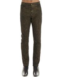 Saint Laurent Striped Jeans - Multicolor