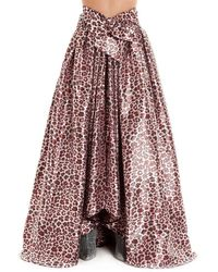 Ultrachic Leopard Print Gathered Skirt
