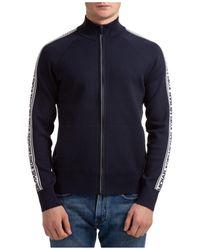 Michael Kors Logo Tape Zip-up Jacket - Blue