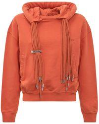 Ambush Multicord Ribbed Hem Hoodie - Orange