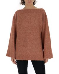 3.1 Phillip Lim Flared Sleeve Knitted Sweater - Brown