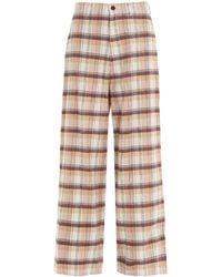 Undercover Tartan Print Wide-leg Pants - Multicolor