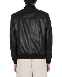 Z Zegna Other Materials Outerwear Jacket - Black