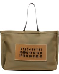 Maison Margiela Logo Patch Tote Bag - Green