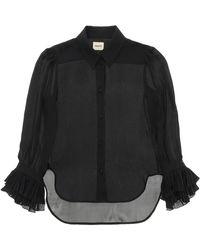 Khaite Mary Silk Shirt S Silk - Black