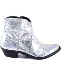 Golden Goose Deluxe Brand - Two-tone Metallic Cowboy Boots - Lyst