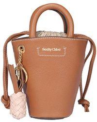 See By Chloé Cecilya Mini Tote Bag - Brown