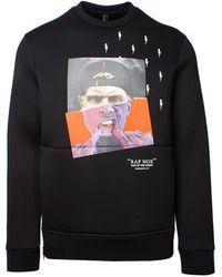 Neil Barrett Cotton Sweatshirt - Black