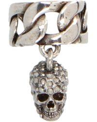 Alexander McQueen Skull Chain Ear Cuff - Metallic