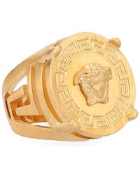 Versace Medusa Signet Ring - Metallic