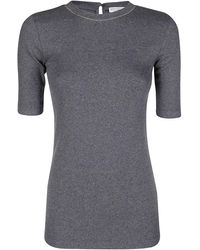 Brunello Cucinelli Fitted T-shirt - Gray