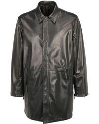 Prada Reversible Single Breasted Coat - Black