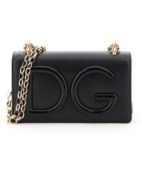 Dolce & Gabbana Dg Girls Chain Shoulder Bag - Black