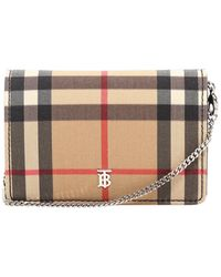 Burberry Vintage Check Chain Card Case - Multicolour