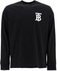 Burberry Monogram Motif Long-sleeve T-shirt - Black
