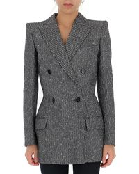 Givenchy Double-breasted Blazer - Gray