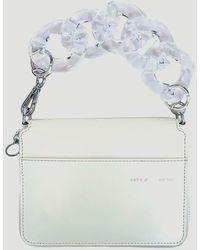 Kara Large Bike Wristlet Wallet - White