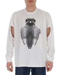 Burberry Printed Cut Out T-shirt - White