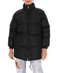 Prada Zipped Puffer Jacket - Black