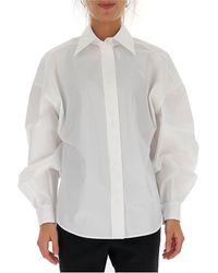 Givenchy Oversized Puff Sleeve Shirt - White