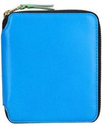 Comme des Garçons Small Super Fluo Wallet - Blue