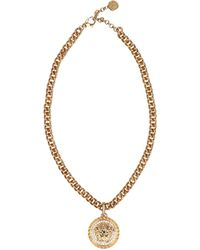 Versace Medusa Necklace - Metallic