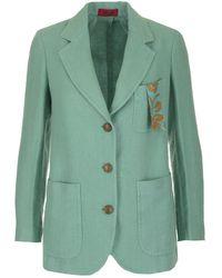 The Gigi Button-up Blazer - Green