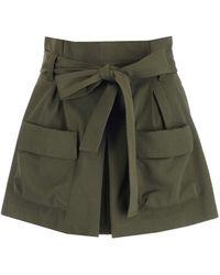 RED Valentino Cotton Shorts - Green