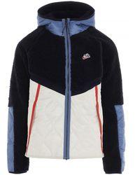 Nike Heritage Hooded Jacket - Blue