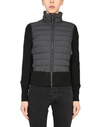 Parajumpers Down Jacket With Knit Details - Black