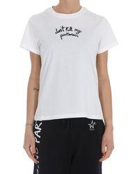 Pinko Slogan Printed T-shirt - White