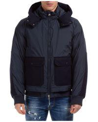 Woolrich Men's Outerwear Down Jacket Blouson Hood - Blue