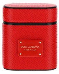 Dolce & Gabbana Logo Plaque Airpods Case - Red