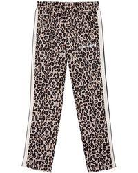 Palm Angels - Leopard-print Velour Tracksuit Bottoms - Lyst