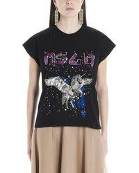 MSGM Sequinned Unicorn T-shirt - Black