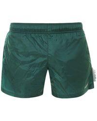 Off-White c/o Virgil Abloh Logo Swim Shorts - Green
