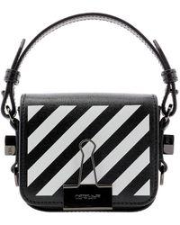 Off-White c/o Virgil Abloh Diag Baby Flap Crossbody Bag Black White