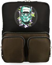 Prada Frankenstein Print Backpack - Black