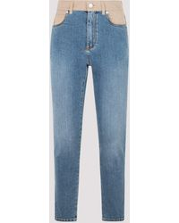 Alexander McQueen Fitted Stretch Jeans 27 - Blue